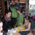 Diktläsning i biblioteket